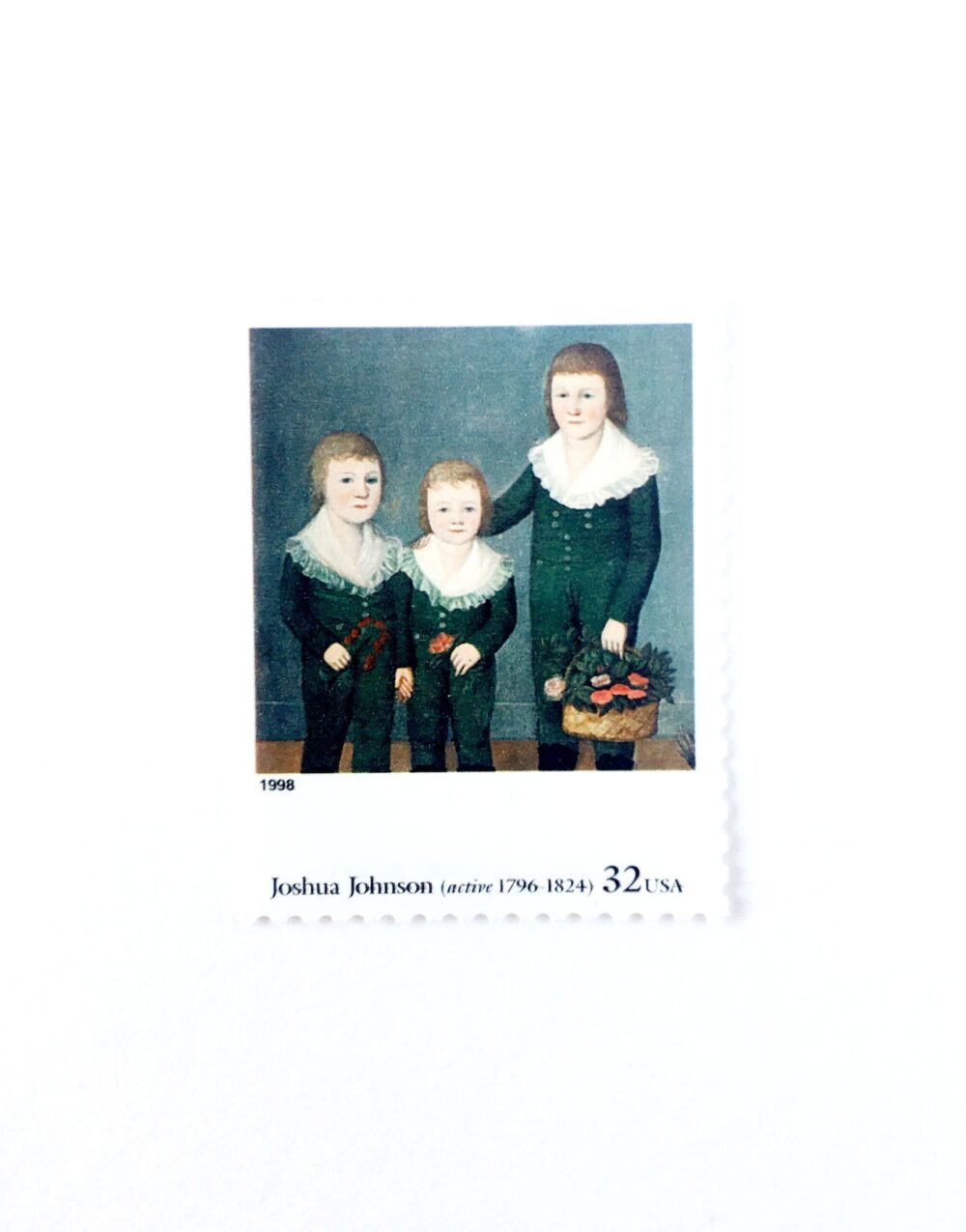 """5 The Westwood Children By Joshua Johnson Postage Stamps // Unused 32 Cent Stamp Four Centuries Of American Art Wedding Postage"""""""