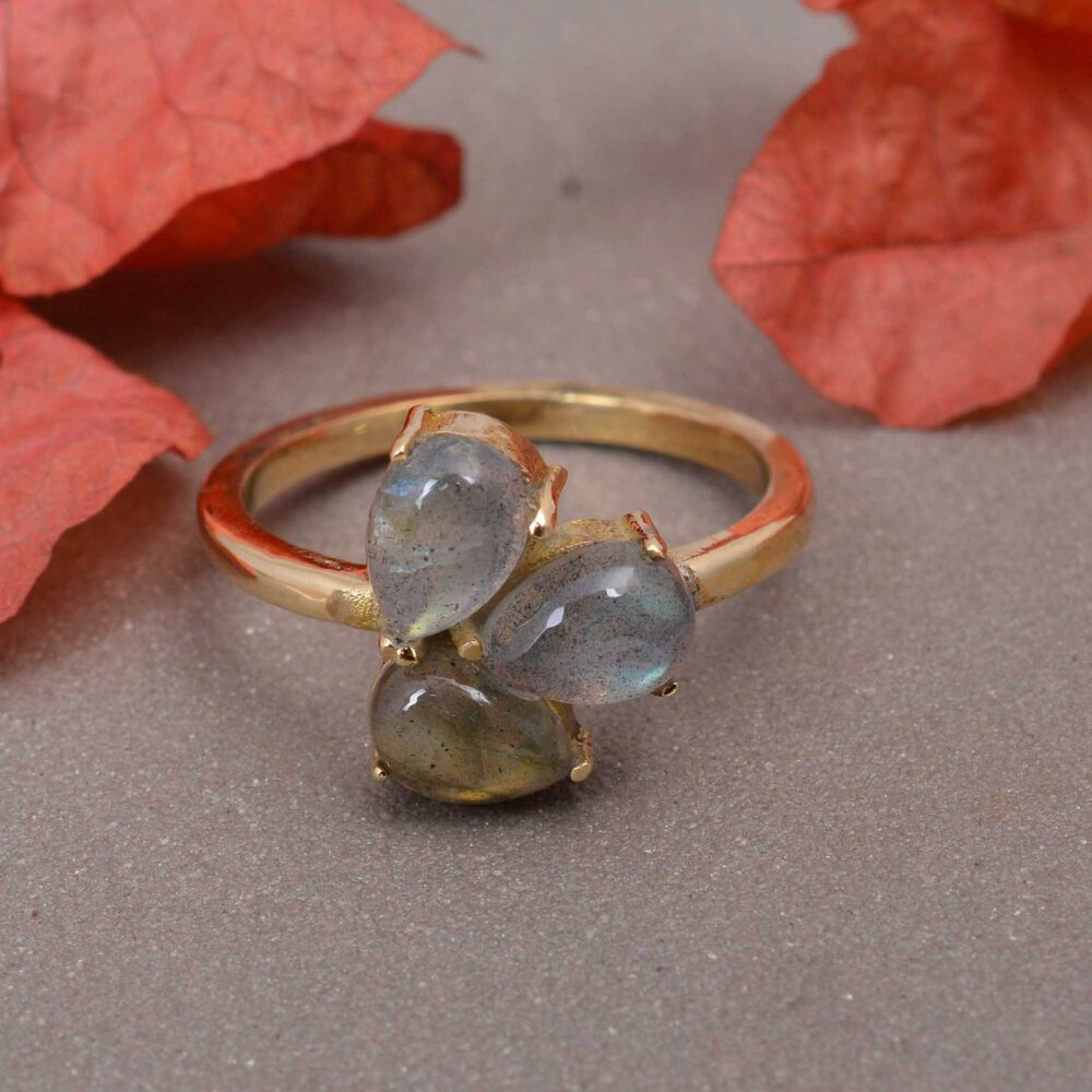 Labradorite Ring For Women, Gemstone Promise Her, Delicate Ring, Moon Stone Purity Birthstone Ring. Christmas