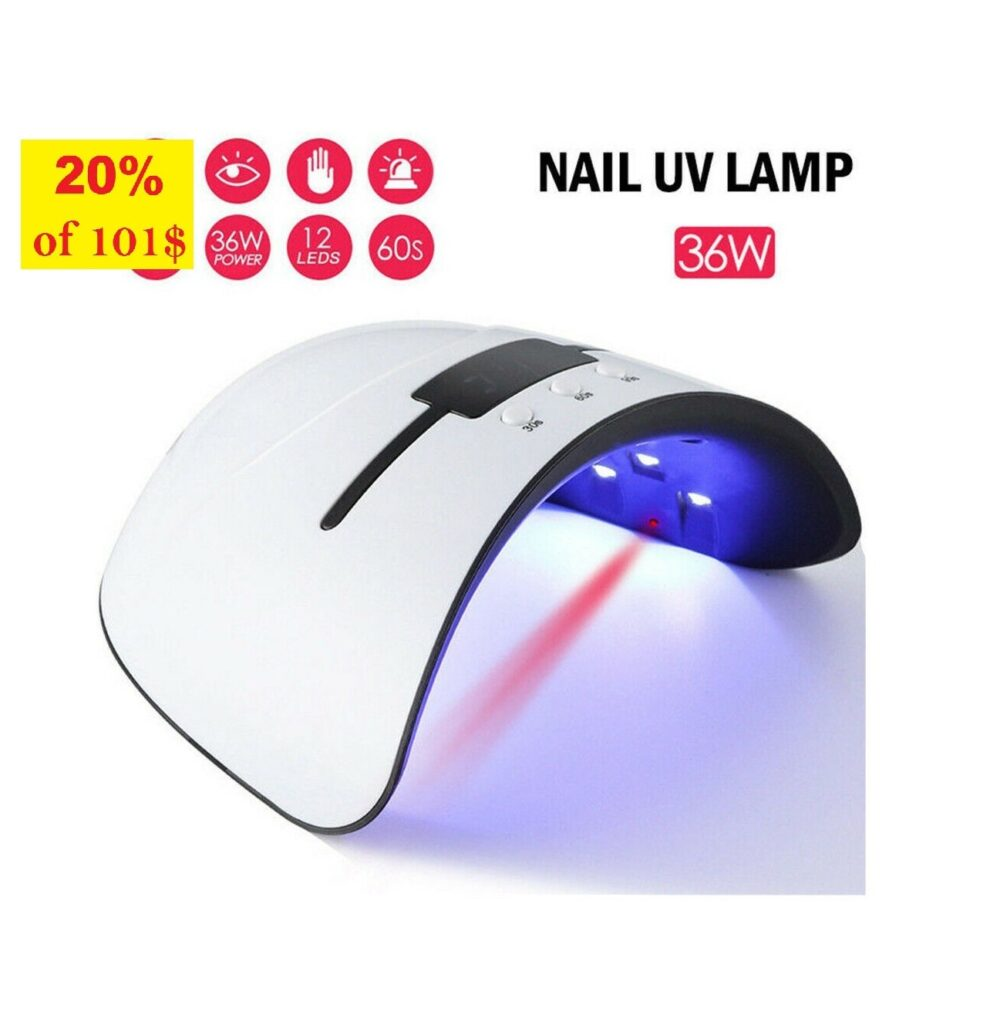 Us Delivery 2-5Days/ 36W Uv Led Nail Lamp Dryer/ Gel Nail Dryer/ Ultra Light/ Tool/ Lamp/ Supplies