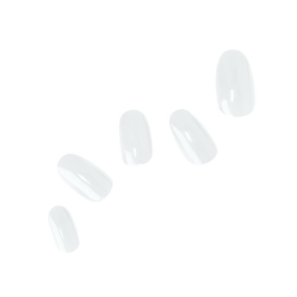 Just White Gel Nail Polish Wraps, Korean Semicured Nails, Uv Manicure Strips, Stickers