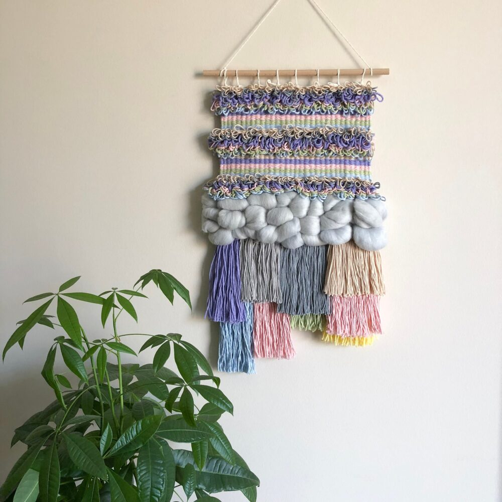 Woven Wall Hanging, Boho Decor, Bohemian Fibre Art, Rustic Ethnic Decoration, Gift For Her, Mother's Day