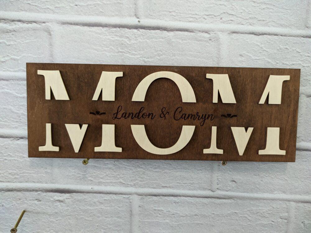 Mothers Day Wood Sign, Dat Gift For Mom, Rustic Sign Mom Plaque, Custom Mothers Gift, Personalized