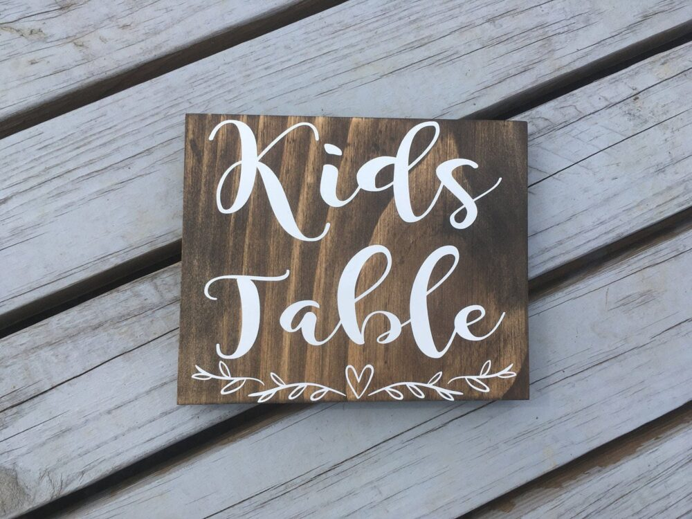 Kids Table Wedding Sign, Children The Cools Kids Place Sign, Barn Wedding, Rustic Chic Wooden Wedding Wood Sign