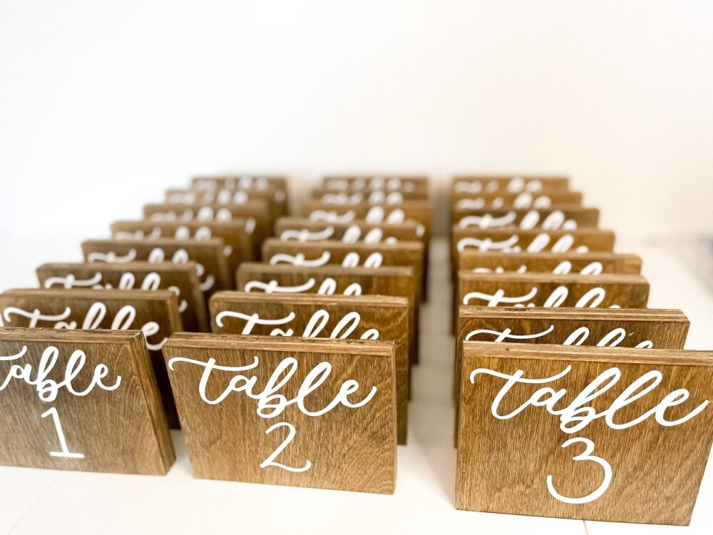Wooden Table Numbers, Wedding Rustic Number, Wood Decor