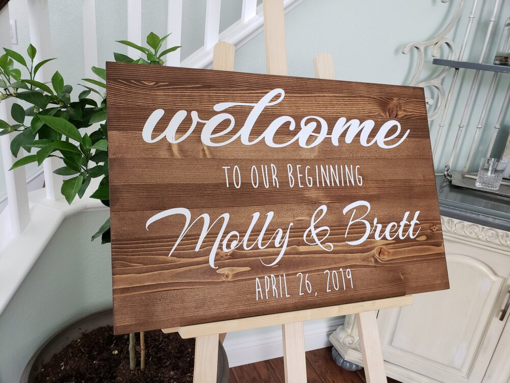 Wedding Welcome Sign. Welcome To Our Beginning. Wedding Rustic Signs Wood. Sign Wedding