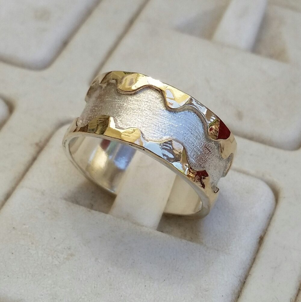 Wedding Ring , Band , Wedding Silver & Gold Couples Rings, His & Hers Wedding Express Shipping