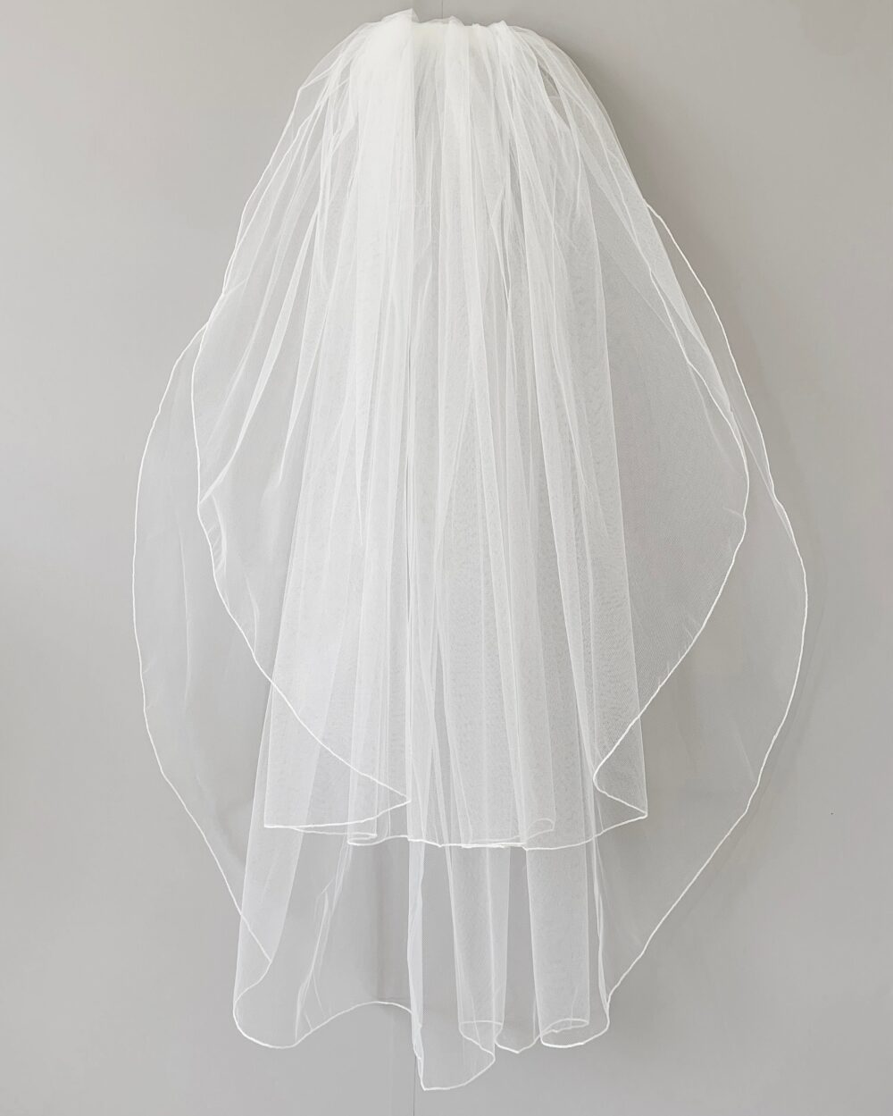Simple Wedding 2 Tiered Veil   Bridal Tulle Layer