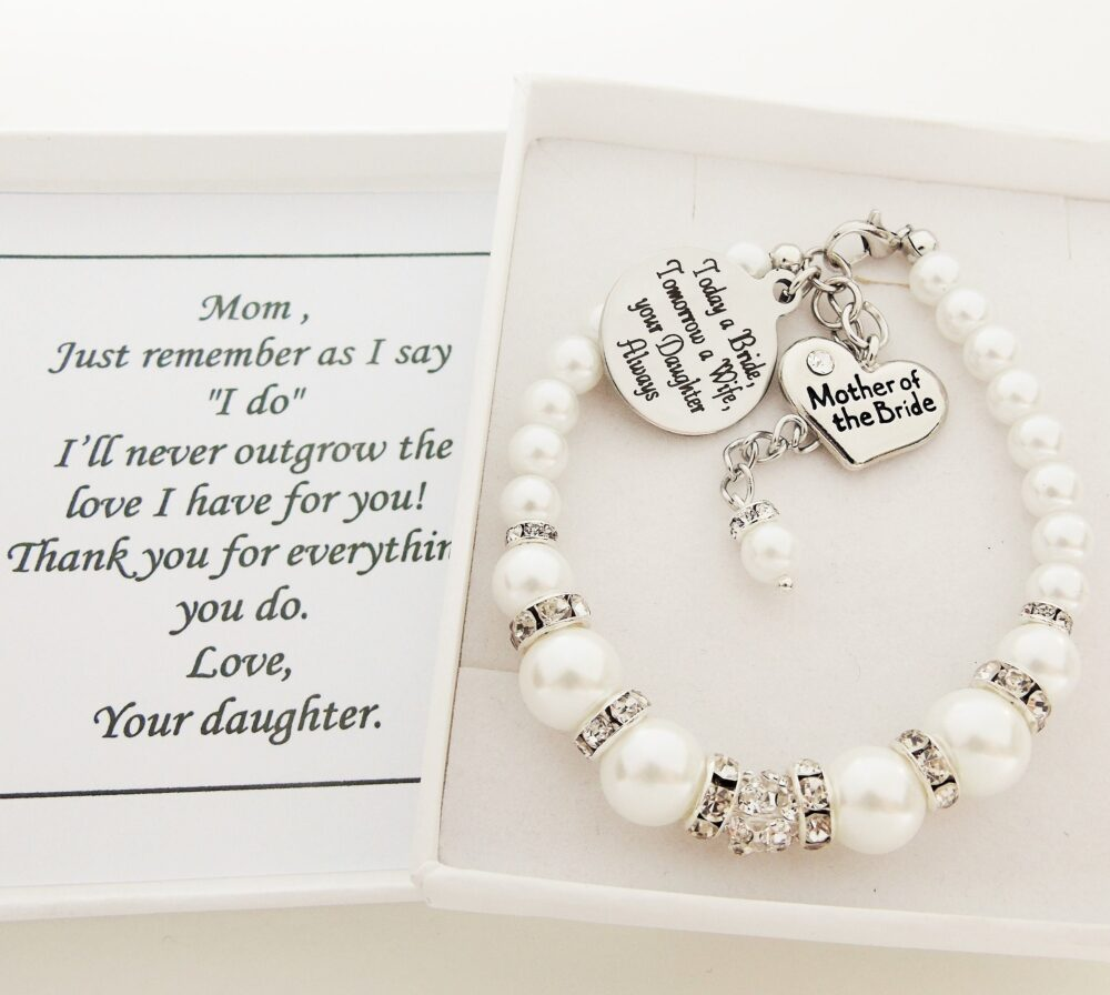 Today A Bride Tomorrow Wife Bracelet Mother Of The Gift Bride Wedding Favor For Mom From Jewelry