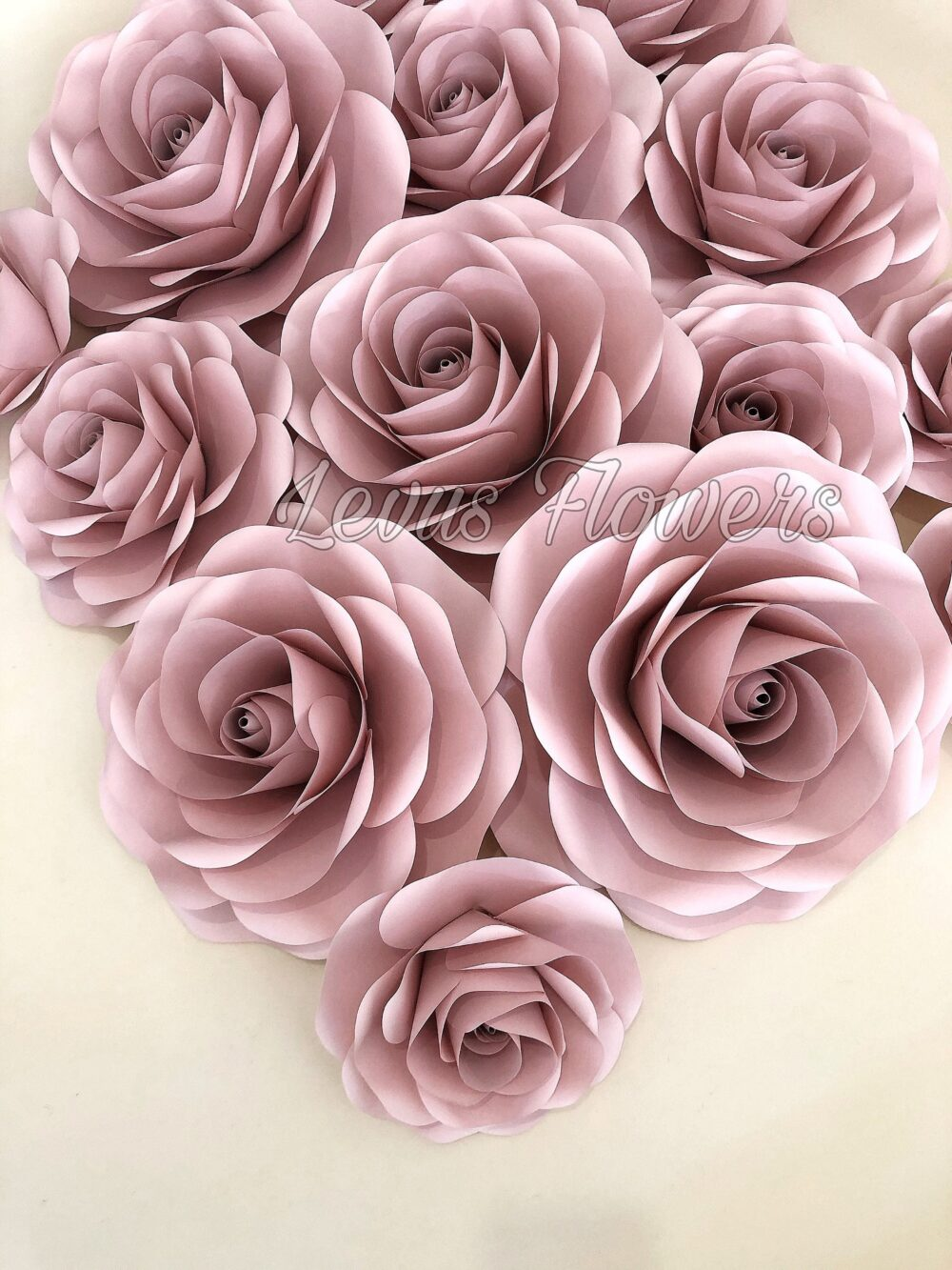 Paper Flowers Wall Decor - Soft Pink Giant Large Backdrop Wedding