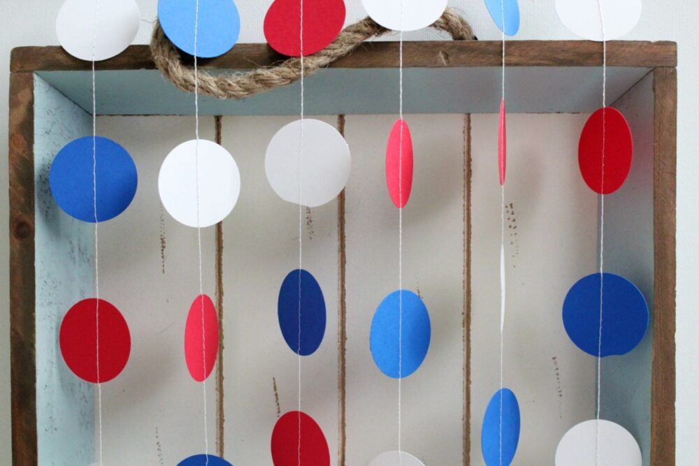 Patriotic 4Th July Red, White, Blue 12 Ft Circle Paper Garland - Wedding, Birthday, Bridal Shower, Baby Party Decorations