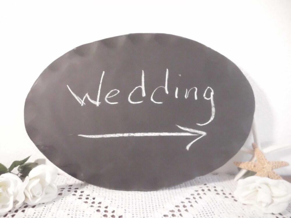 Wedding Chalkboard Sign Wall Hanging Blackboard Plaque Oval Signage Paris Chic French Country Farmhouse Beach Cottage Home Decor Gift Her