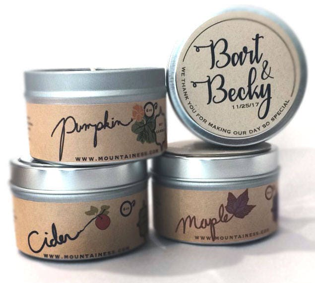 Candle Wedding Favors Fall Themed/12 Candles Pumpkin Maple Leaf Apple Cider For Guests Party Baby Shower