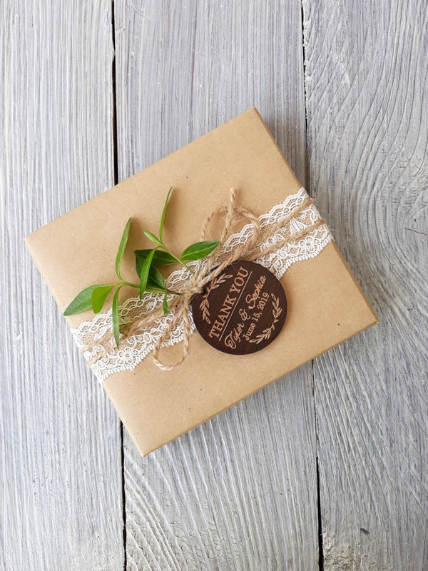 Thank You Wedding Favor, Tags, Personalized Tag, Favor Wood Rustic, Tags Favors