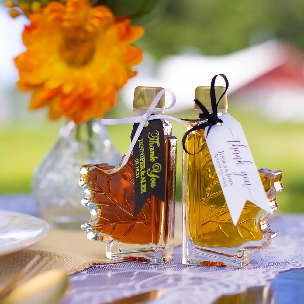 Fall Wedding Favors | 24 | Vermont Maple Syrup in Two Grades Rustic Bulk