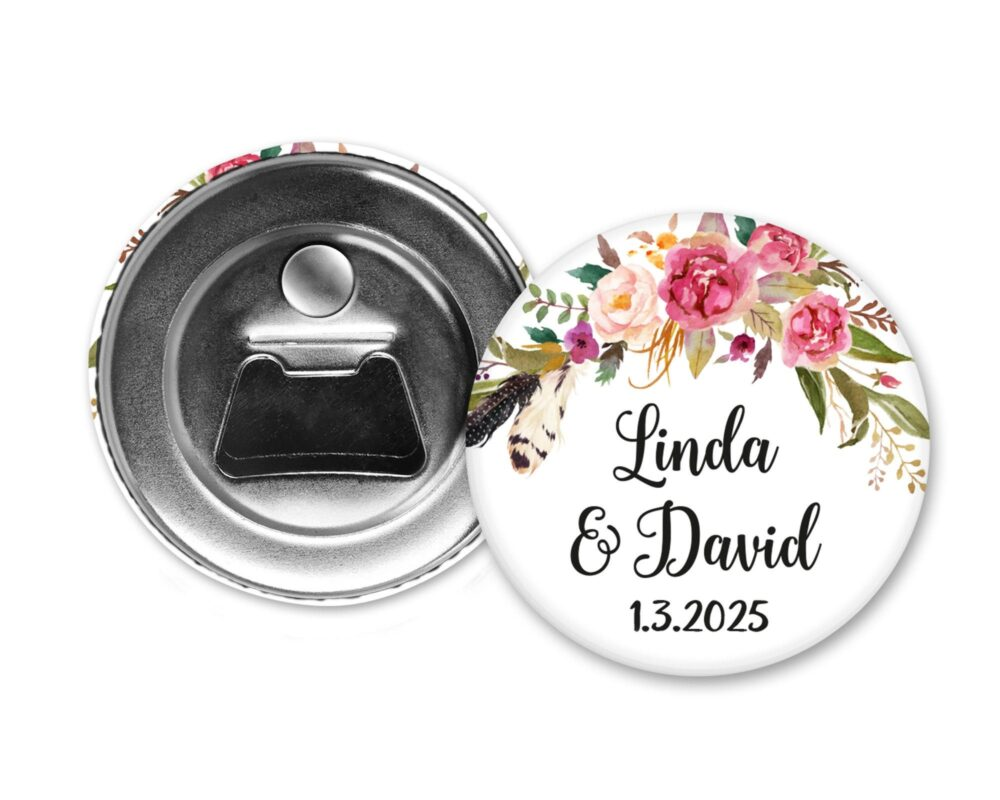 Wedding Favors For Guests, Bottle Opener, Magnets, Wedding Magnet Favor, Fridge Magnets, Beer Bottle Personalized, Custom