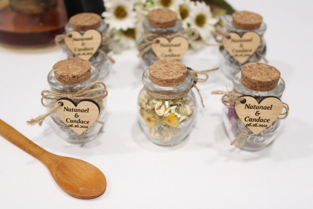 Wedding Tea Favors For Guests, Bulk Gifts, Rustic Wedding Favor, Personalized Favors, Wood Jars, Unique Gift, Thank You Gifts