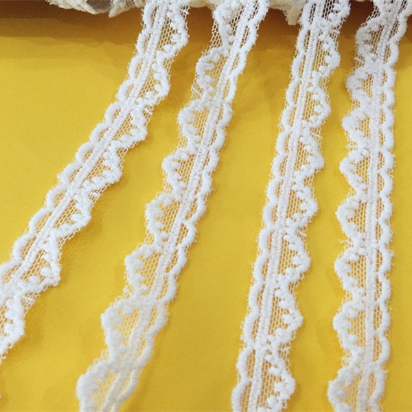 20 Yards Width 1.4cm 0.55 White Mesh Embroidery Lace Trim Ribbon Fabric For Clothes Dress Skirt L4K684 1015996