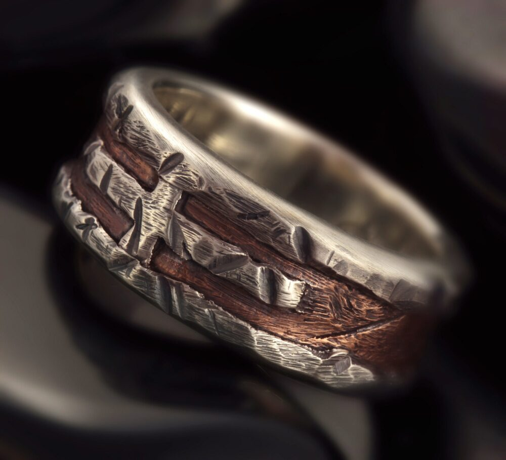 Rustic Mens Ring, Mens Wedding Band, Cross Unique Engagement Ring, Gift For Men, Rs-1163