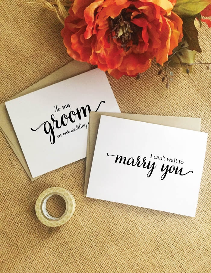 Wedding Card For Groom Gift From Bride To On Our Wedding Day Card I Can't Wait Marry You Husband Mil8