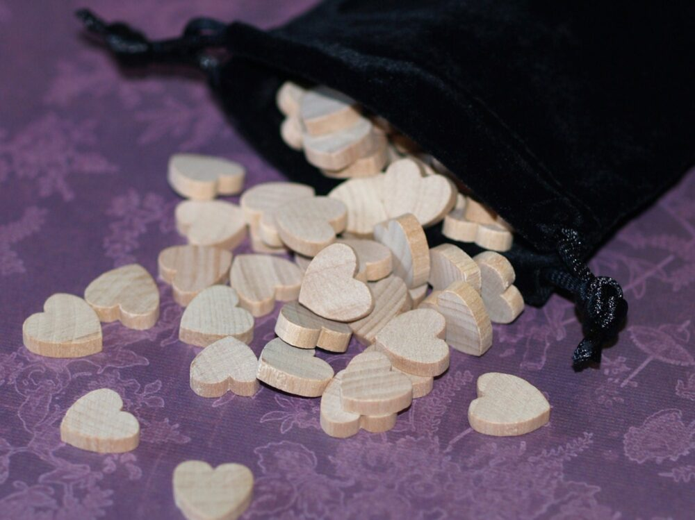 100 Mini Hearts ... 1/2 | 13mm Wood Wedding Decor Table Scatter Confetti Natural Unfinished Diy Valentine Rustic Gifts