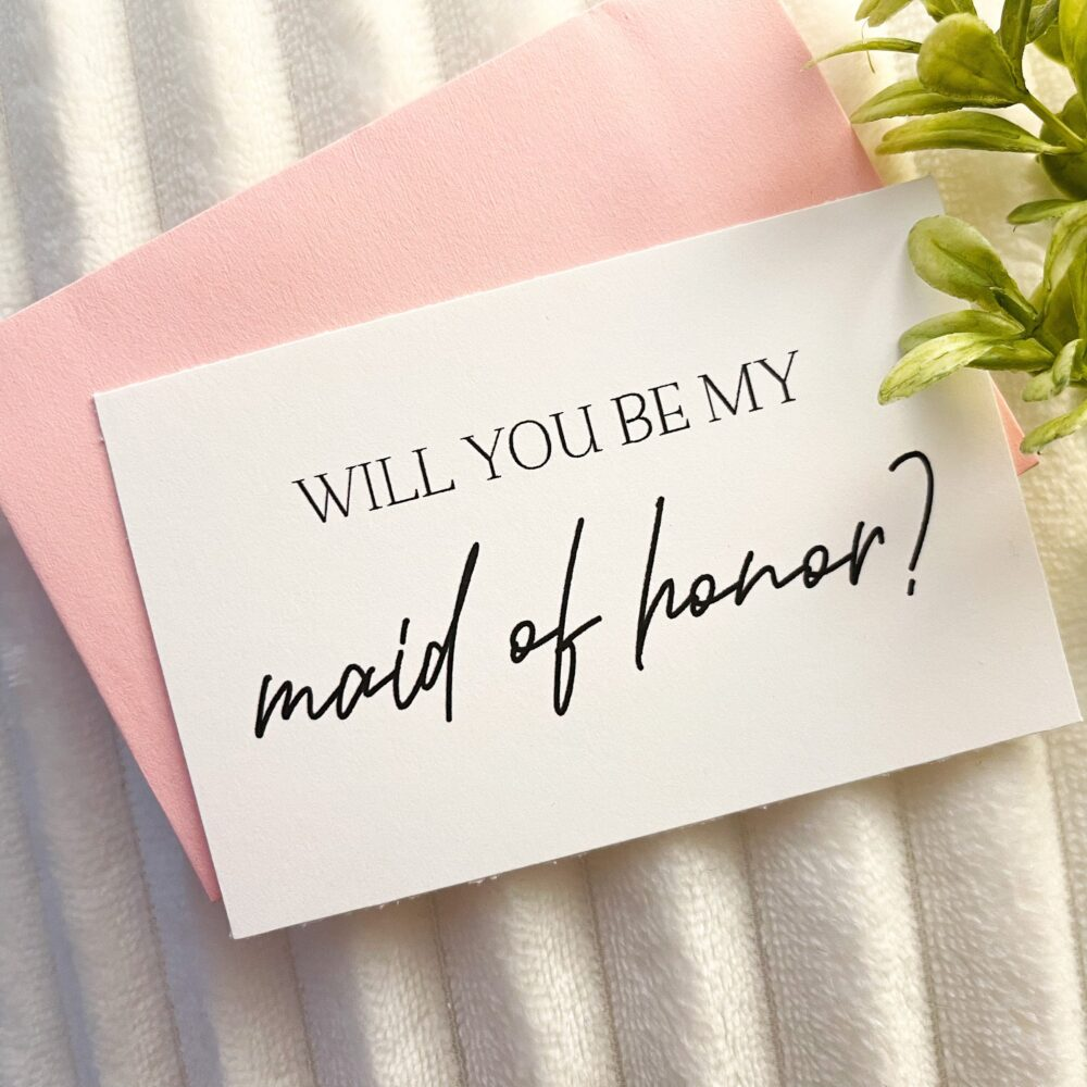Mini Bridesmaid Proposal Card, Will You Be My Bridesmaid, Matron Of Honor, Maid Flower Girl, Personalized Bridesmaid Proposal Card