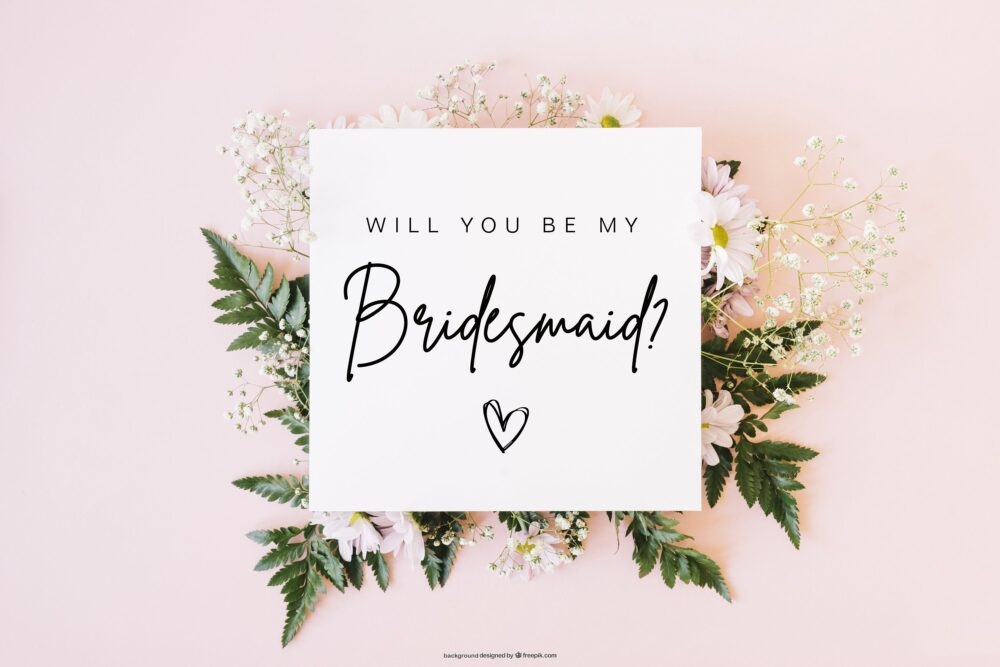 Bridesmaid Proposal Card - Will You Be My How To Ask Wedding Party Idea