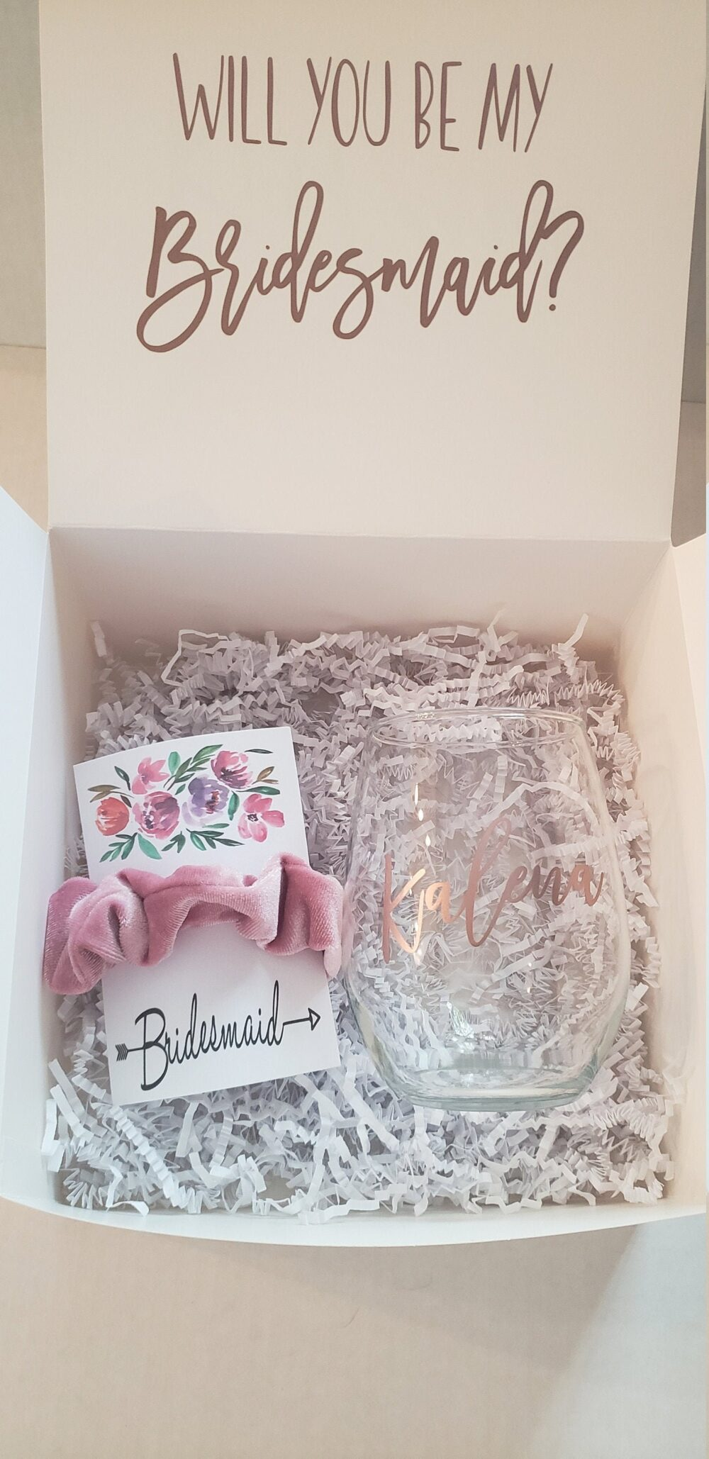 Bridesmaid Proposal Box/Invitation I Can't Say Do Without You Maid Of Honor Proposal