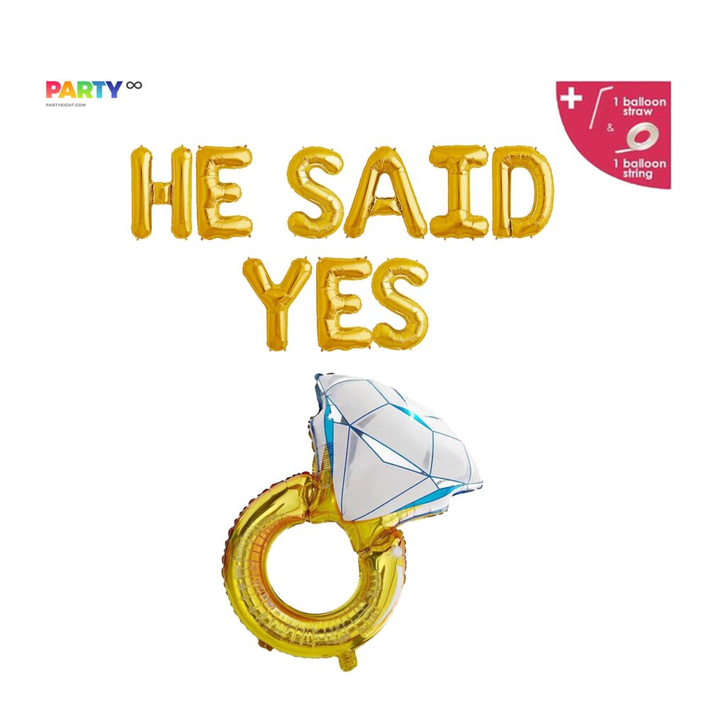 He Said Yes Balloon Banner   Gay Engagement Party Decorations Wedding Decoration Shower Decor