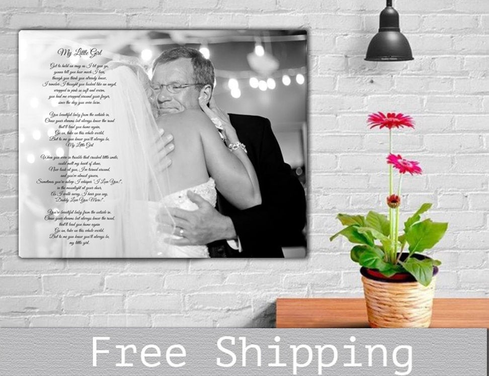 Fathers Day Gift - Father Daughter Dance Gifts For Dad Song Canvas Print Day Gift -Your Little Girl