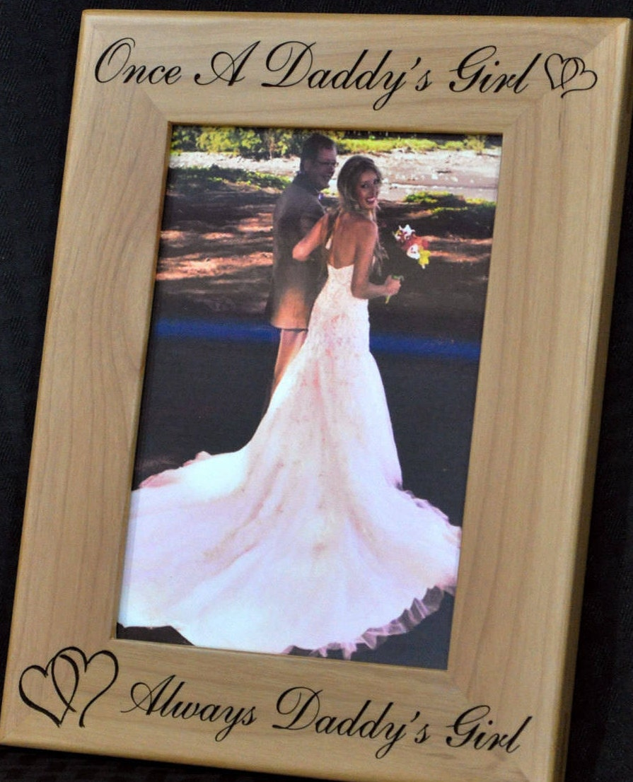 Gift For Dad ~ Father Of The Bride Wedding Engraved Picture Frames Frame To From Daughter Gifts