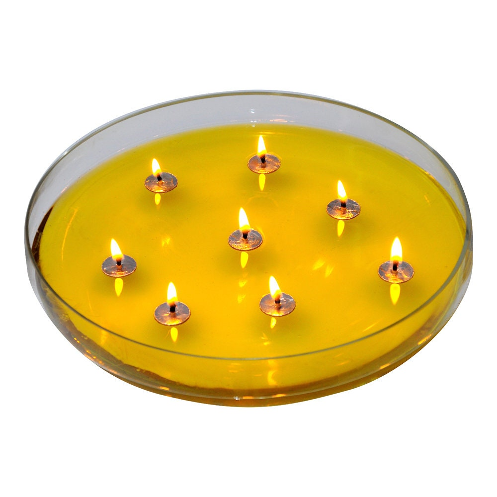 Yoga Round Floating Candles, Meditation Oil Candles, 50 Candle Waxed Wicks, Floating Tab Wicks, Oil Candle Wick