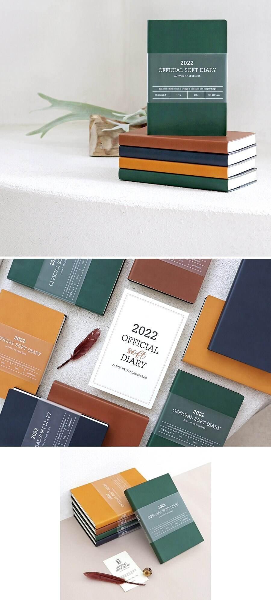 2022 Weekly Planner [4Colors]/Monthly Yearly Daily Office