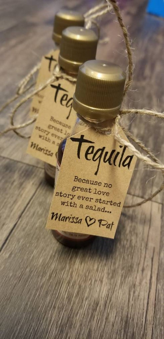 """30 Because No Great Love Story Started With A Salad Diy Wedding Favor Kits Wedding Favors. Favor Tags. Personalized Rustic Favors."""""""