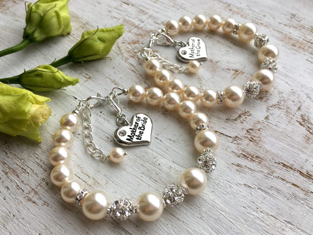 Mother Of The Groom Gift From Bride Bracelet. Daughter. Mom Wedding Gift. Pearl Bracelet Necklace Jewelry Set