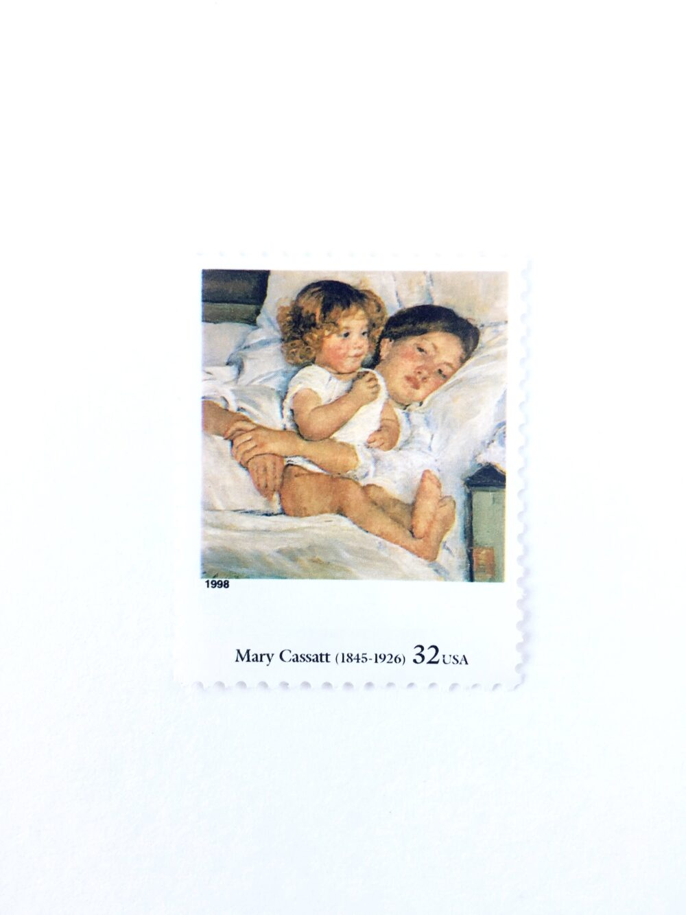 """5 Breakfast in Bed By Mary Cassatt Postage Stamps // Unused 32 Cent Stamp Four Centuries Of American Art Wedding Postage"""""""