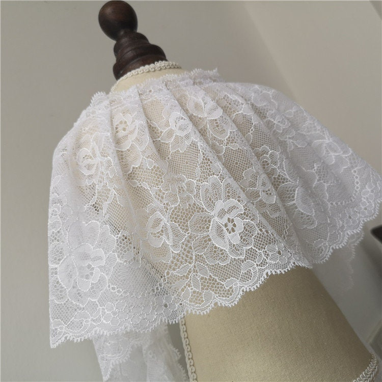 5 Yards Soft Lace Trims, Lace Appliques, Doll Sewing Accessories, Diy For Supplies, Width 6.2 Inches