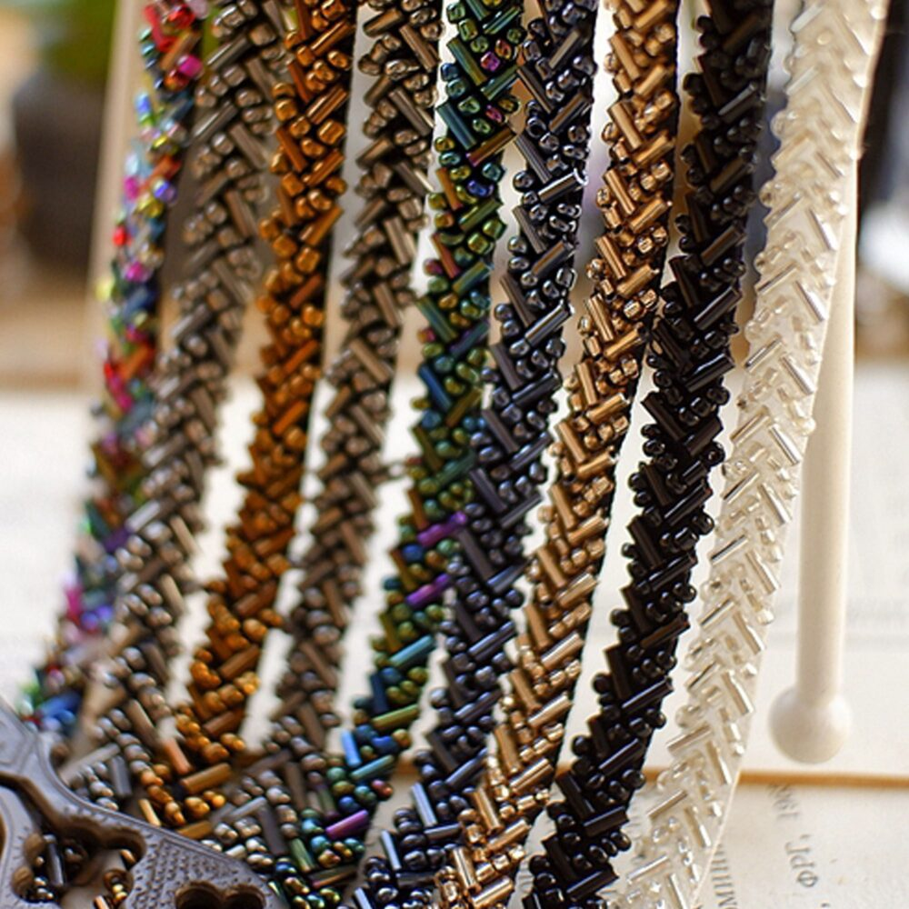 Beaded Pearl Trim By Yard Costumes Fringe Trimming Sewing Embellished Delicate Accents For Diy Crafting, Garters
