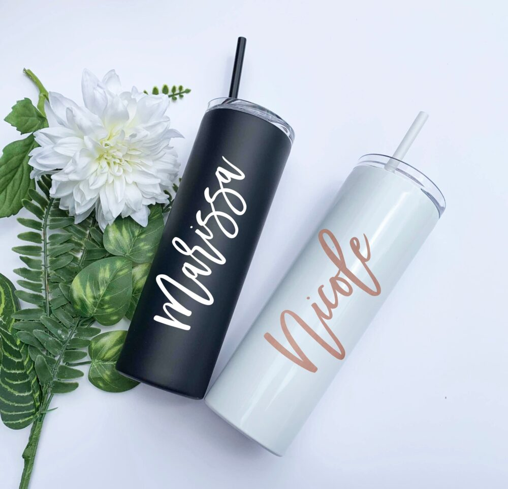 Custom Tumblers, Personalized Tumbler, Coffee Cup, Travel Mug, Stainless Steel, Personalized Gift, Bridesmaid Gift