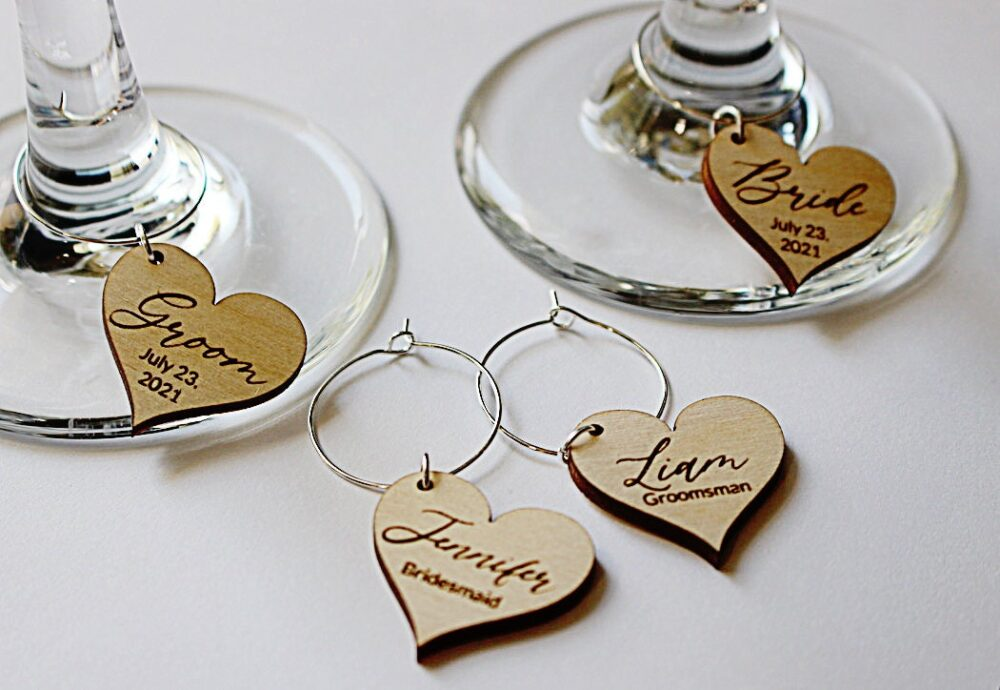 Wine Charms, Wedding Guest Gift, Favors, Glass Charms