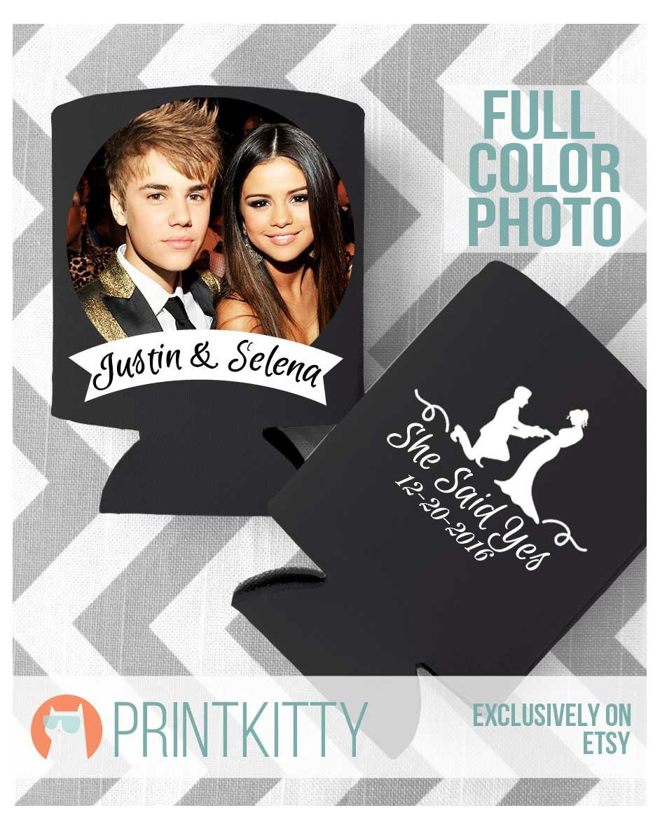 Wedding Can Coolers, Koozies, Personalized Favors, Gifts, Customized Full Color Print Koozies