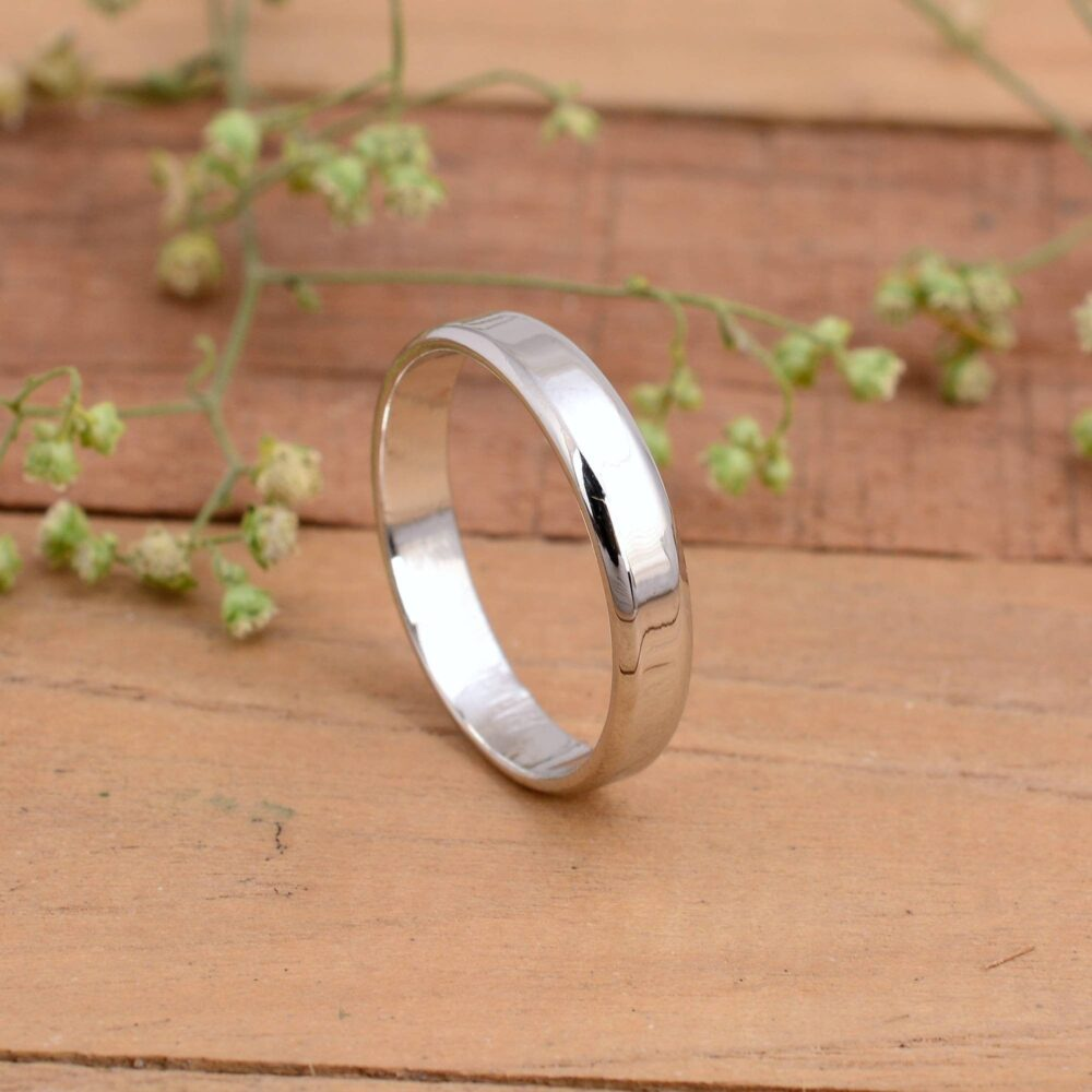 925 Sterling Silver Band, Plain Band Ring, 2mm 3mm 4mm 5mm Statemant Wedding Stackable Ring