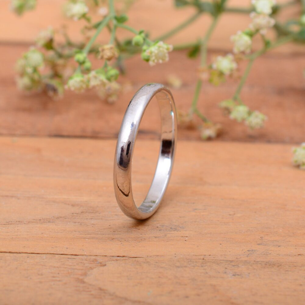 Solid 925 Sterling Silver Band, 2mm 3mm 4mm 5mm 6mm 7mm Wedding Band, Plain Half Round Handmade Band