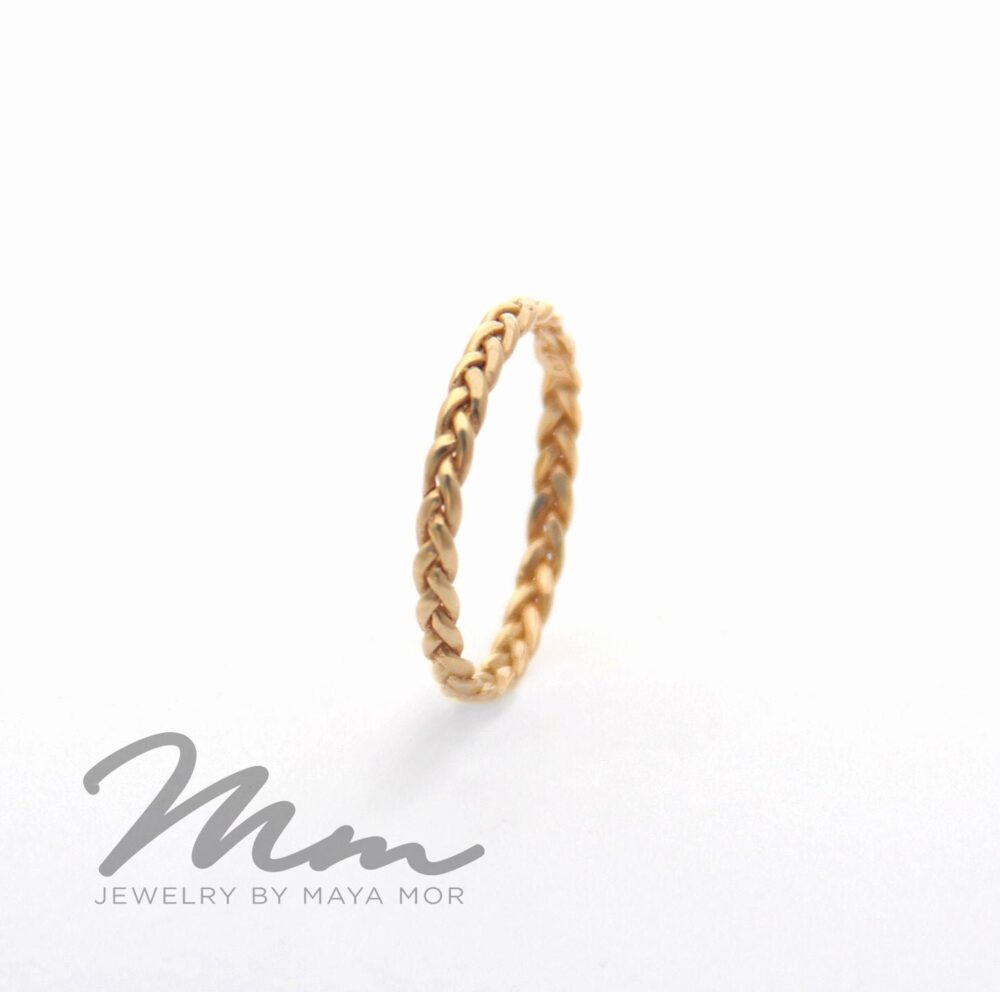 Unique Wedding Band, 4K Solid Gold Ring For Women, Braided Celtic Knot Band Ring, For Wonen