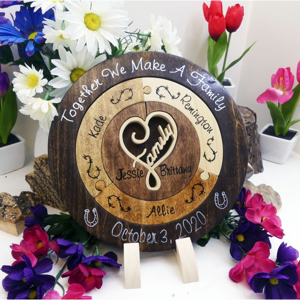 Western Wedding Unity Candle Alternative Unique Ceremony Ideas Puzzle Personalized Blended Family Gift For The Couple