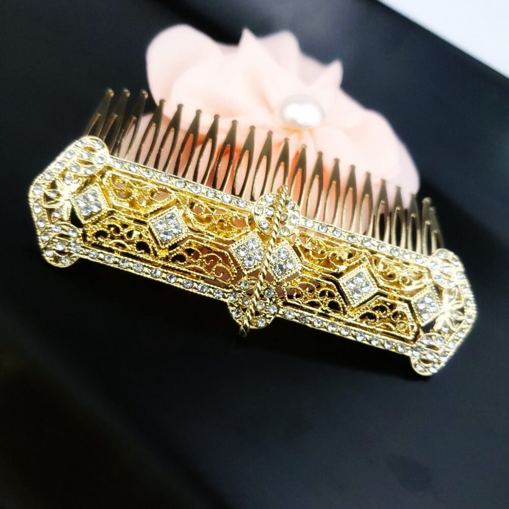 Gold Wedding Hair Comb, Comb For Brides, Vintage Inspired Art Deco 1920's Accessories, Filigree