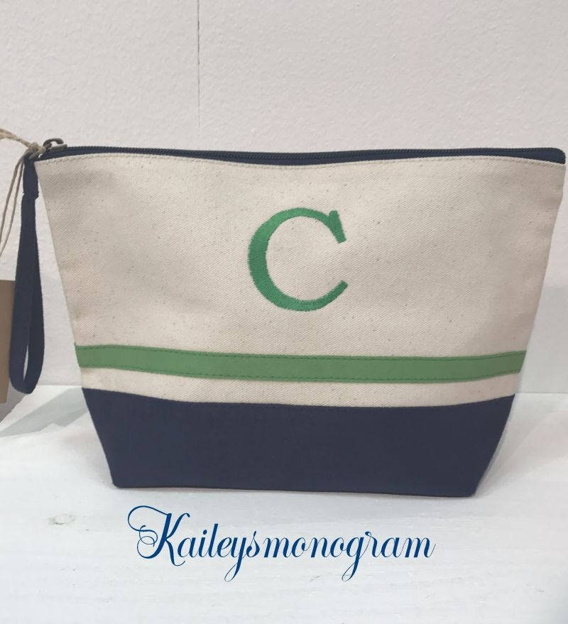 Custom Embroidery Canvas Cosmetic Bag Bridesmaids Gifts Personalized Wedding Day Bridal Shower Gift Bags