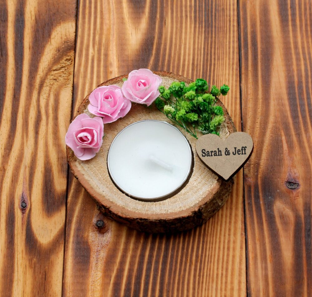 Personalized Wedding Favors, Candle Holders, Bridal Shower Favor, Customized Gift, Favor Candles