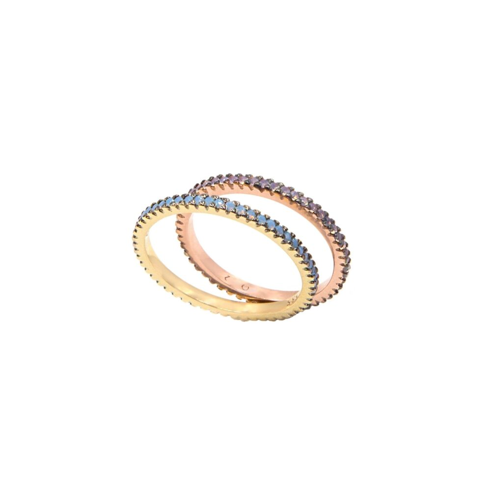 Gold Eternity Band, Ring, Opal Band Thin Stacking Wedding Engagement Full Round Ring