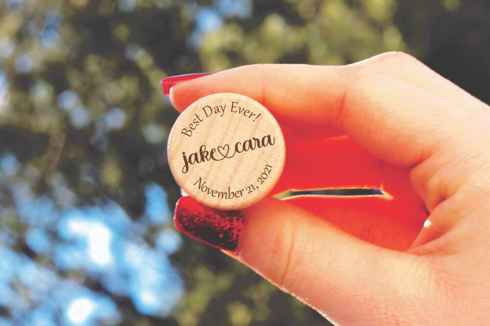 Engraved Wedding Wine Stopper Favors, , Cork Bulk Favors For Guest, Best Day Ever Wedding, Personalized