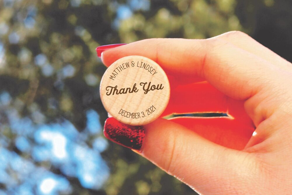 Wedding Party Favors For Guests in Bulk, Bulk Favors, Rustic Wine Thank You Personalized Corks